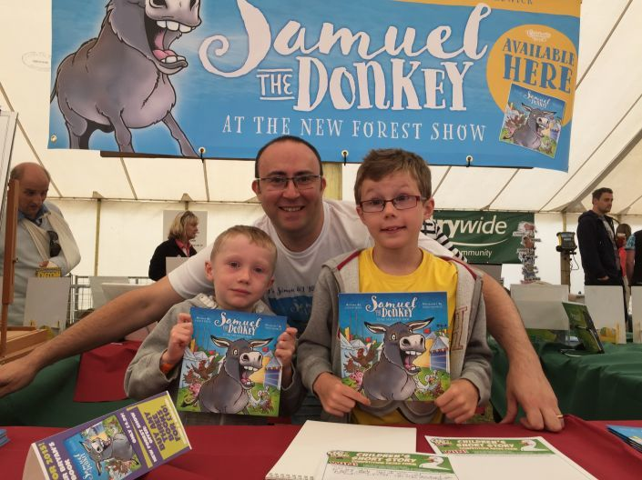 At the launch of the new children's book Samuel The Donkey