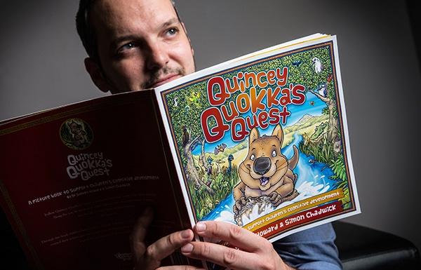 Quincey Quokka's Quest co-author Dr Steven Howard