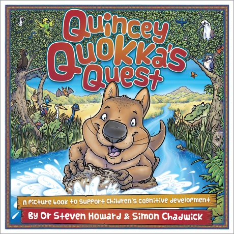 The cover to Quincey Quokka's Quest