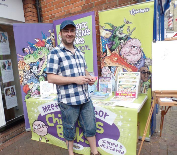 Simon at the Waterside Art's Festival