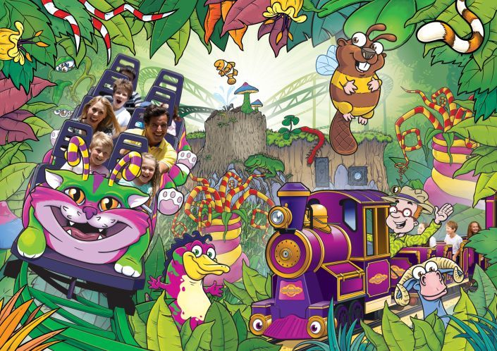 Promotional illustration for Critter Creek at Paultons Park.