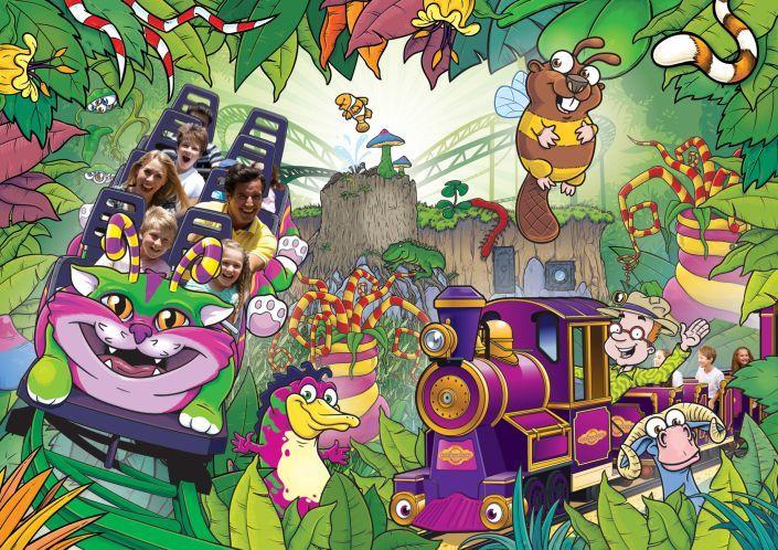 Promotional illustration for Critter Creek at Paultons Park.