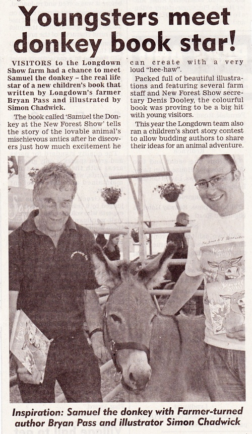 Lymington Times write up about Samuel the Donkey
