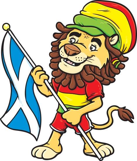 A Scottish Rastafarian Lion