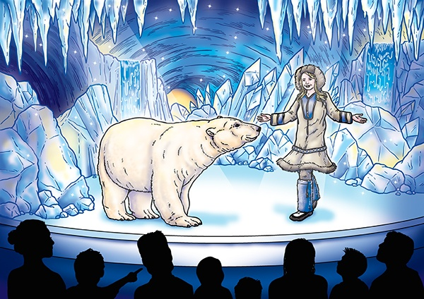 Concept Illustration for Christmas experience