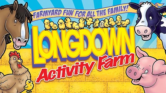 Longdown Activity farm's entrance sign