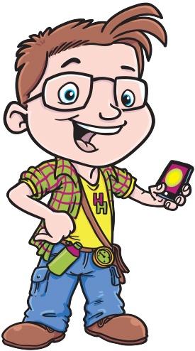 Cartoon mascot for Hampshire's Top Attractions