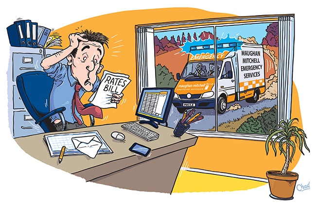 Cartoon commission for a chartered surveyor