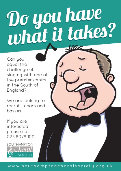 Poster creation for Southampton Choral Society