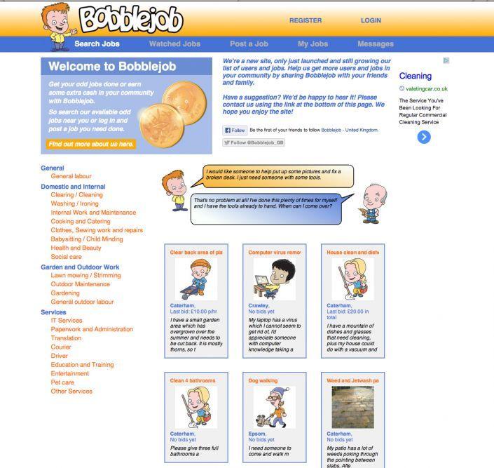 The Booblejob.com homepage