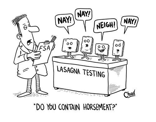 Simon's cartoon about the horsemen scandal