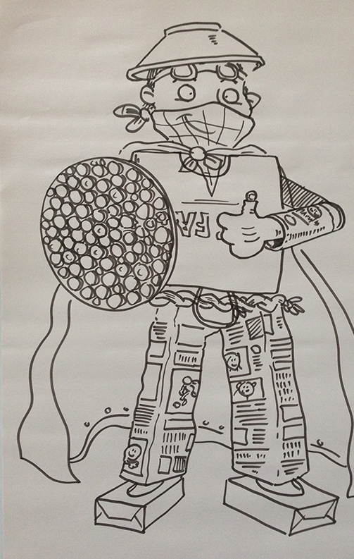 One of the live drawings on the day