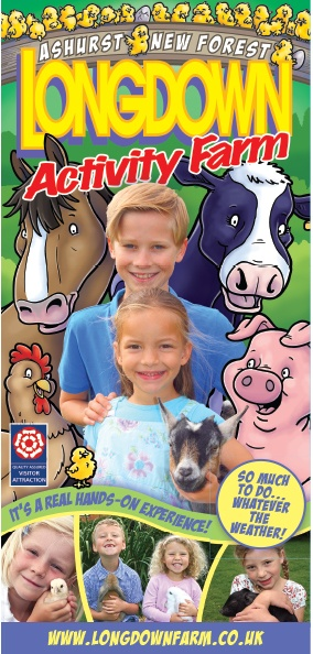 The cover of the 2013 Longdown Activity Farm leaflet