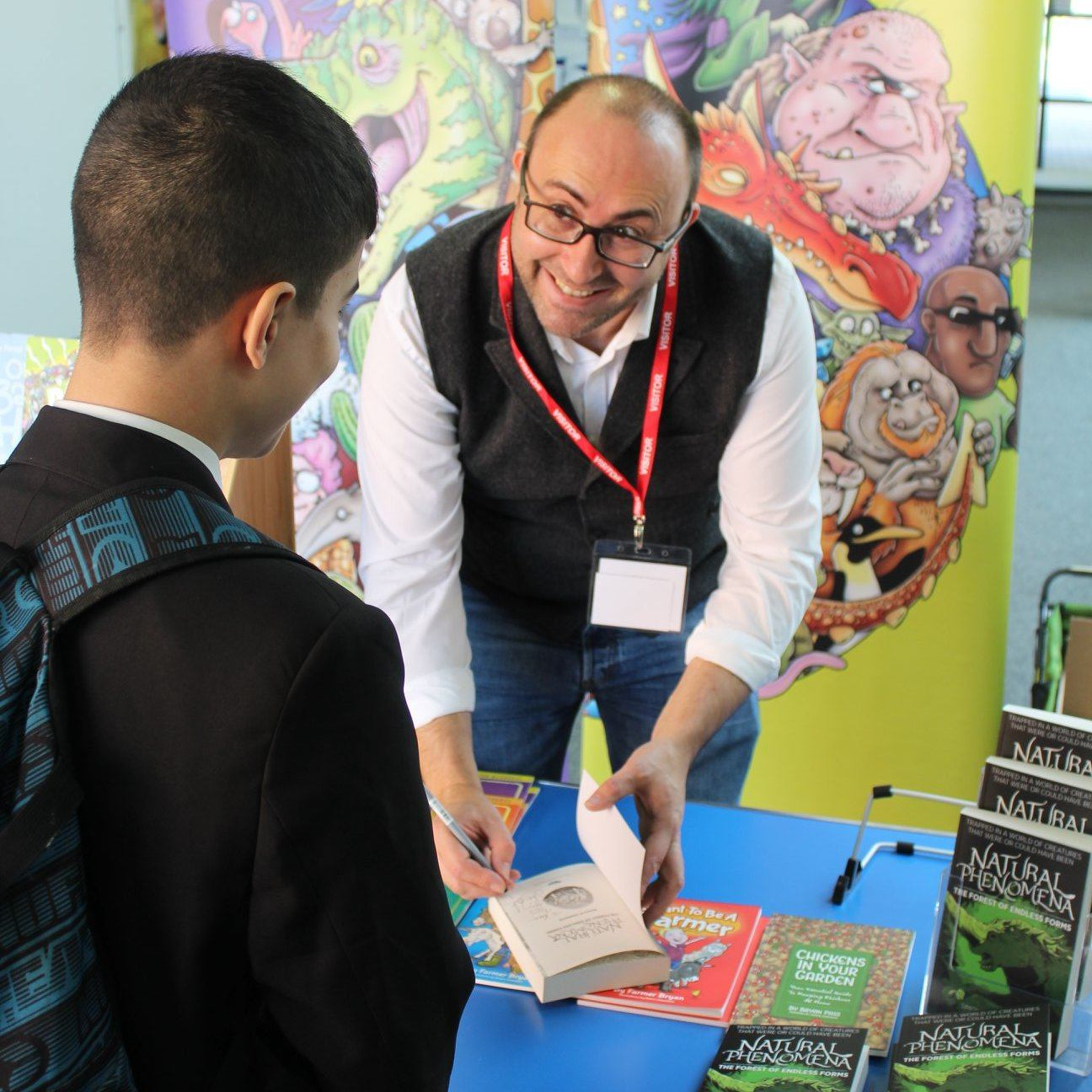 Book signing at Avon Valley School