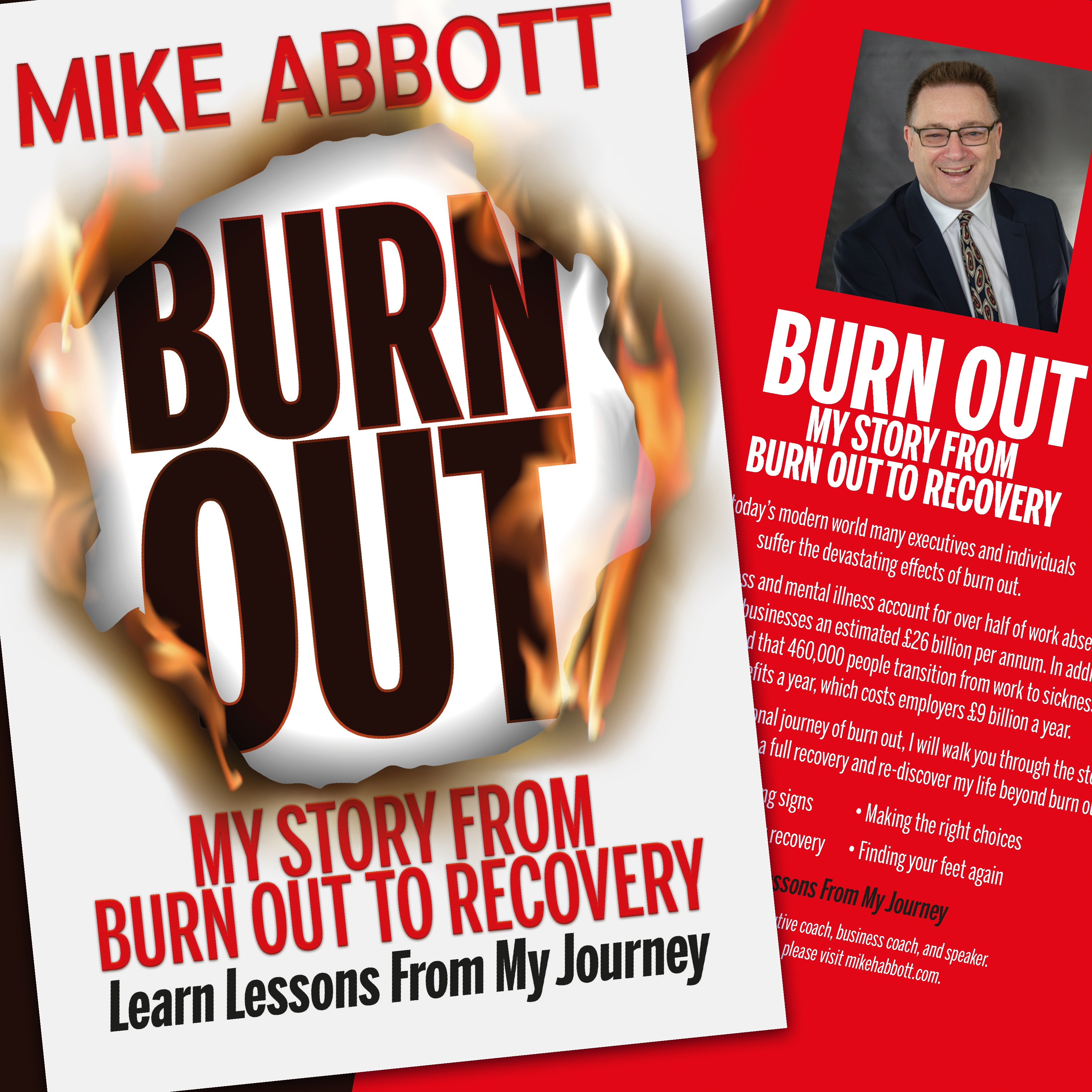 Book jacket design for Burn Out