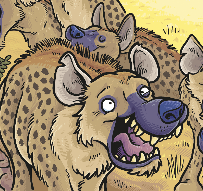 Hyena illustration from Treasure Beyond Measure