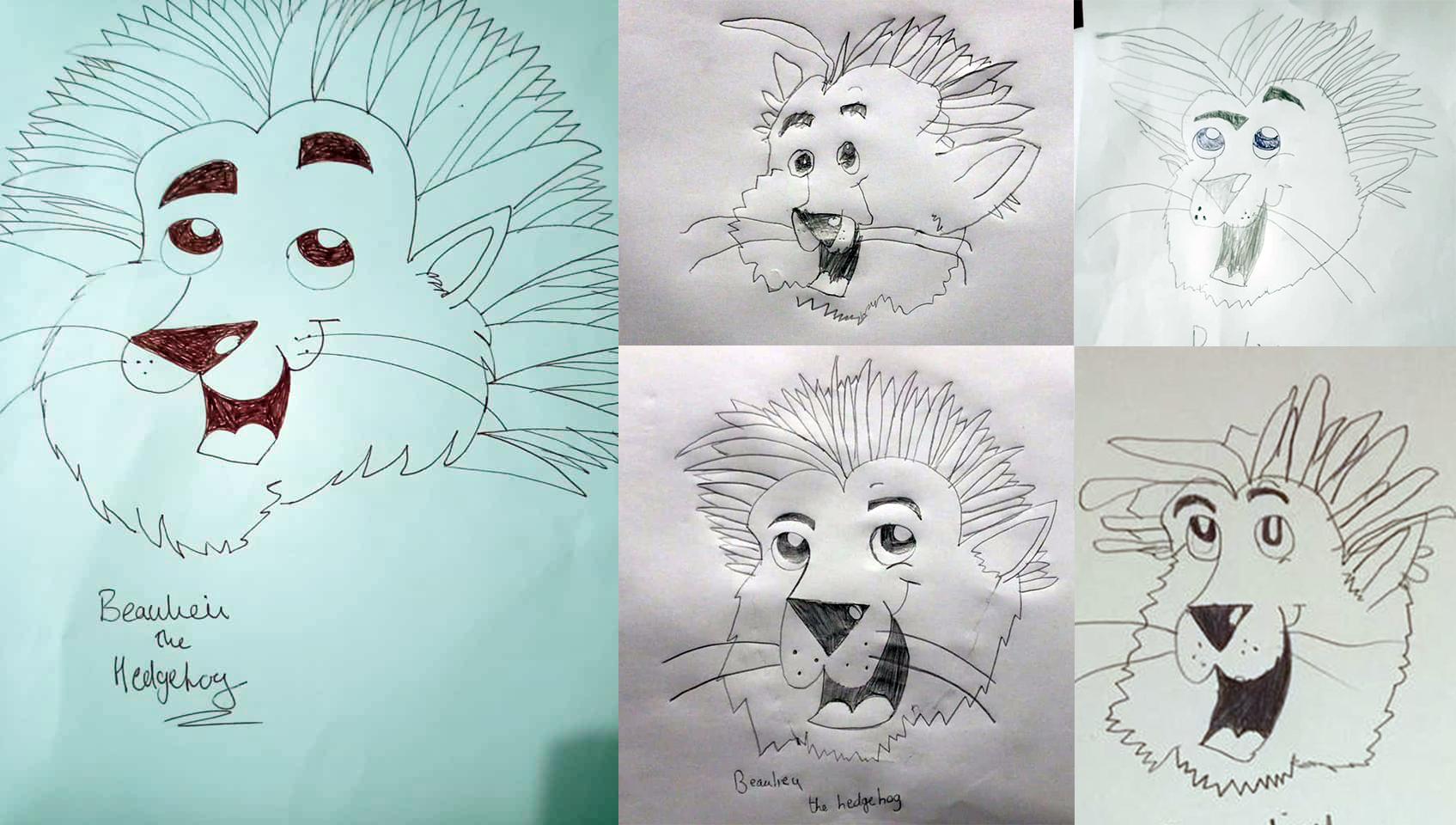 Children's drawings of Beaulieu The Hedgehog