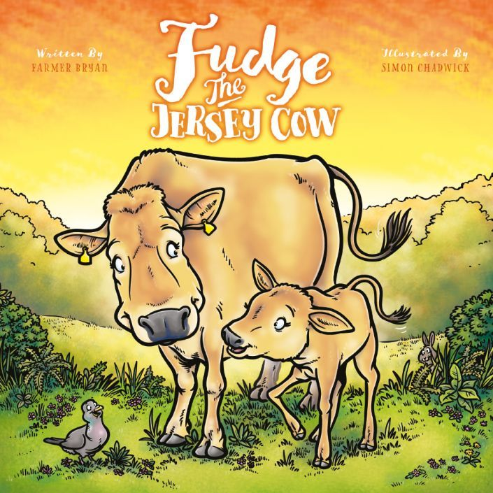 The cover to Fudge The Jersey Cow