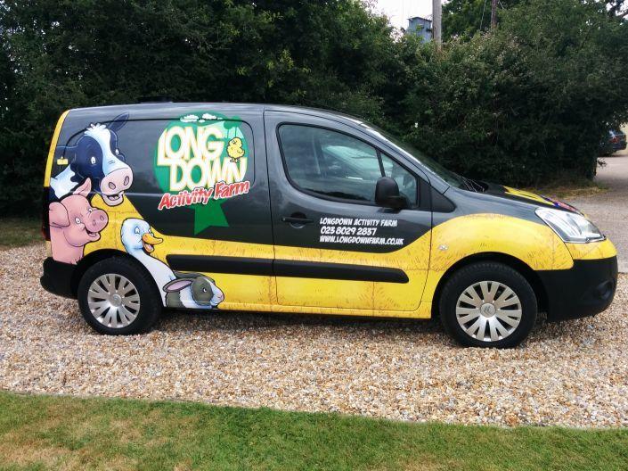 Longdown Activity Farm's finished van