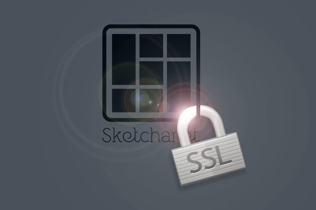 Sketchanet logo secured with a padlock