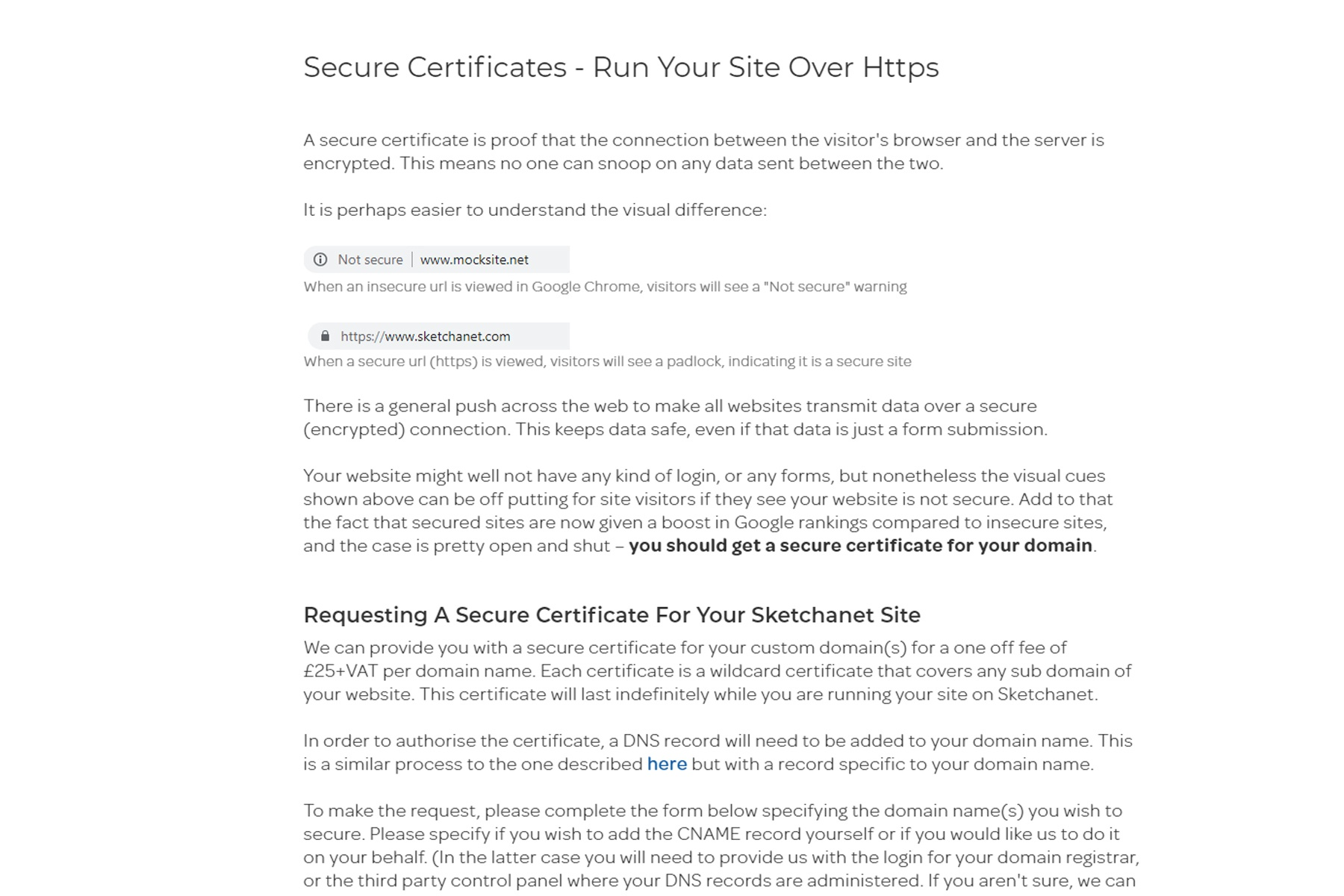 Secure Certificates - Run Your Site Over Https image