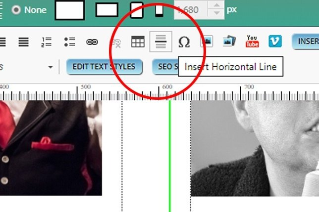 The Horizontal Line Tool image