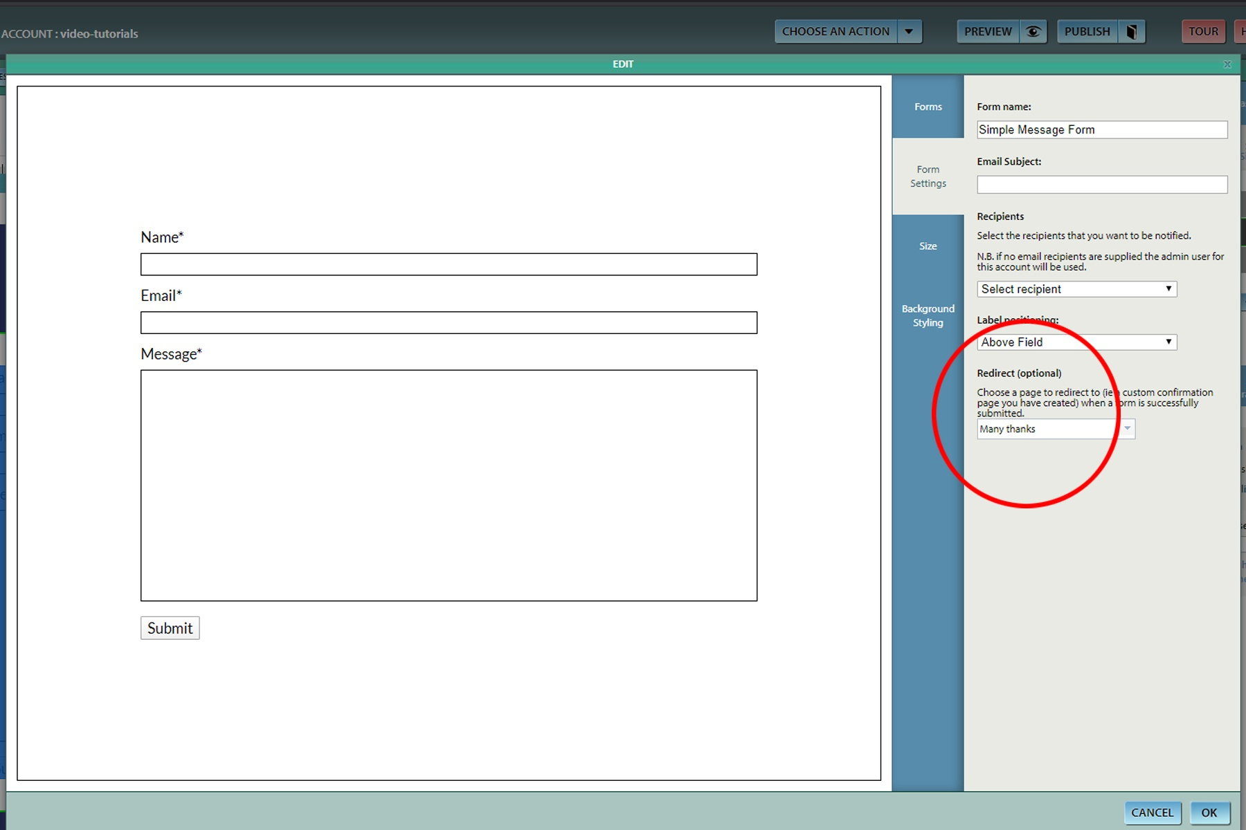 Contact Forms Redirects image