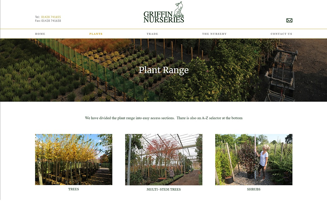 Griffin Nurseries screenshot