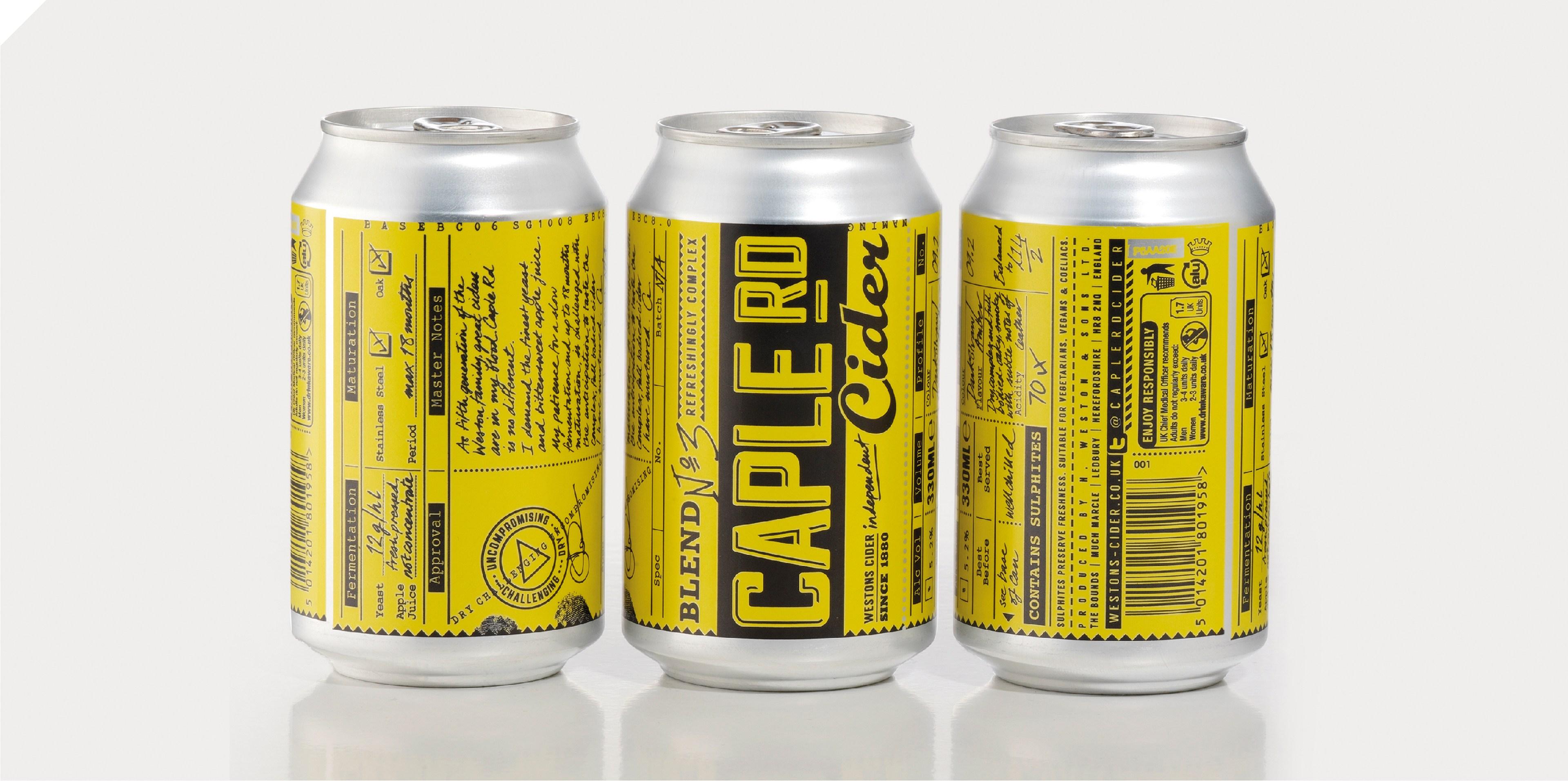 Brand on Shelf - Work - Westons Cider - Caple Rd Cider  Can