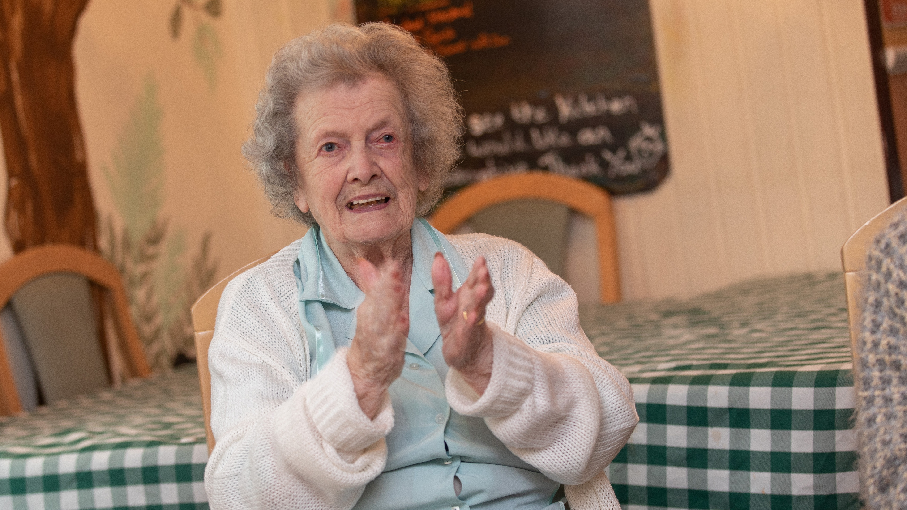 Care home resident