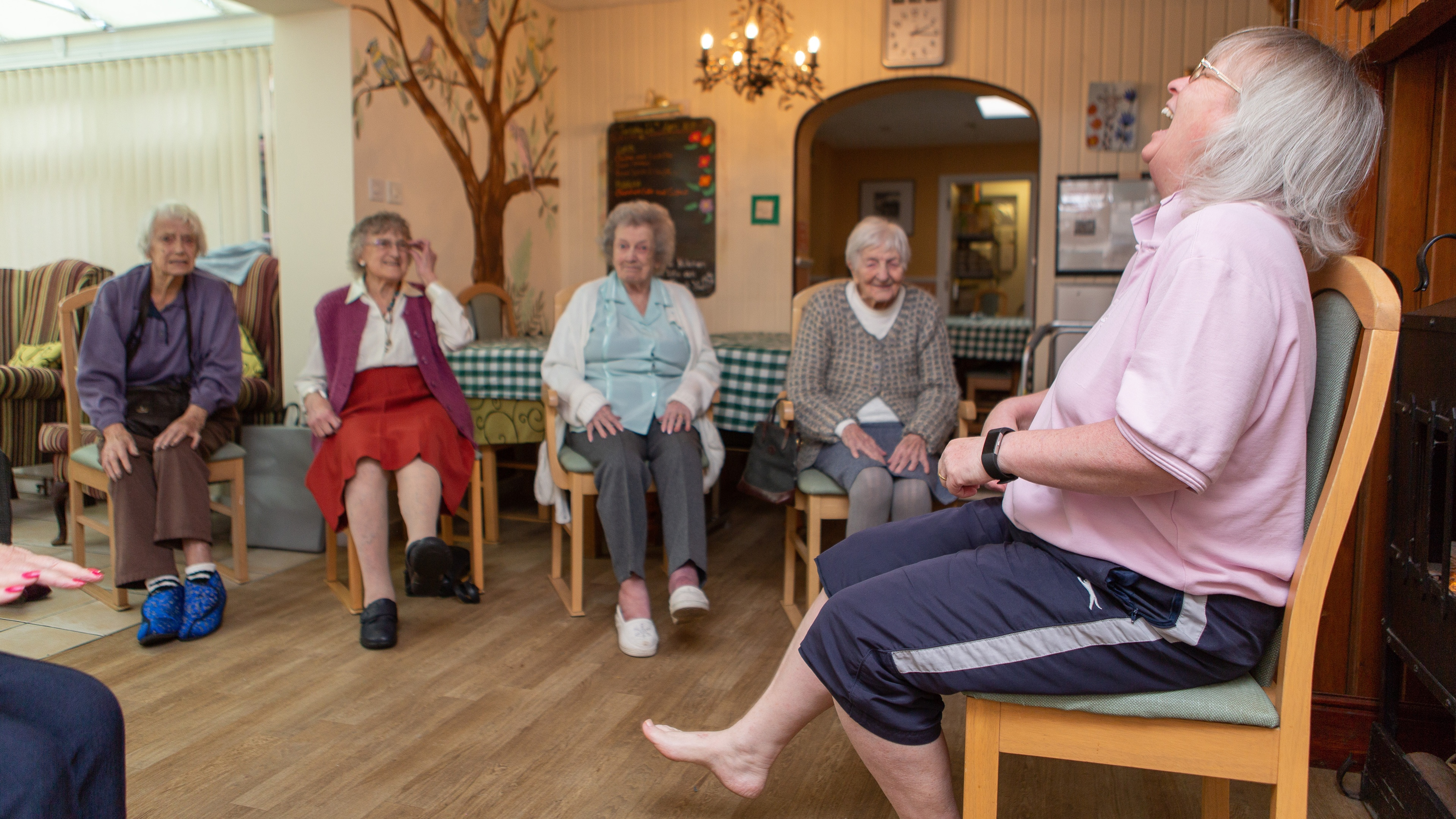 Care home residents and staff member