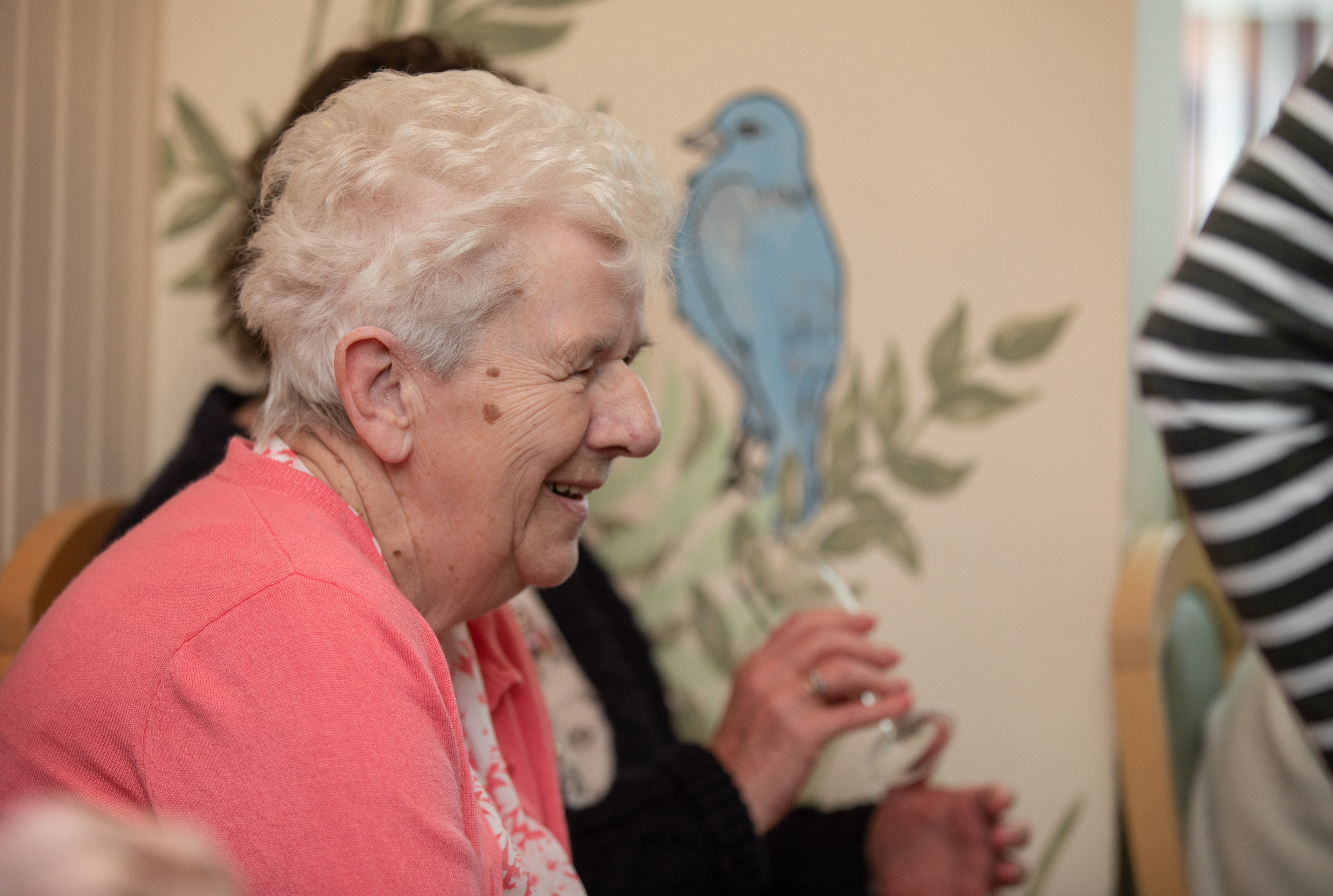 Care home resident and staff member
