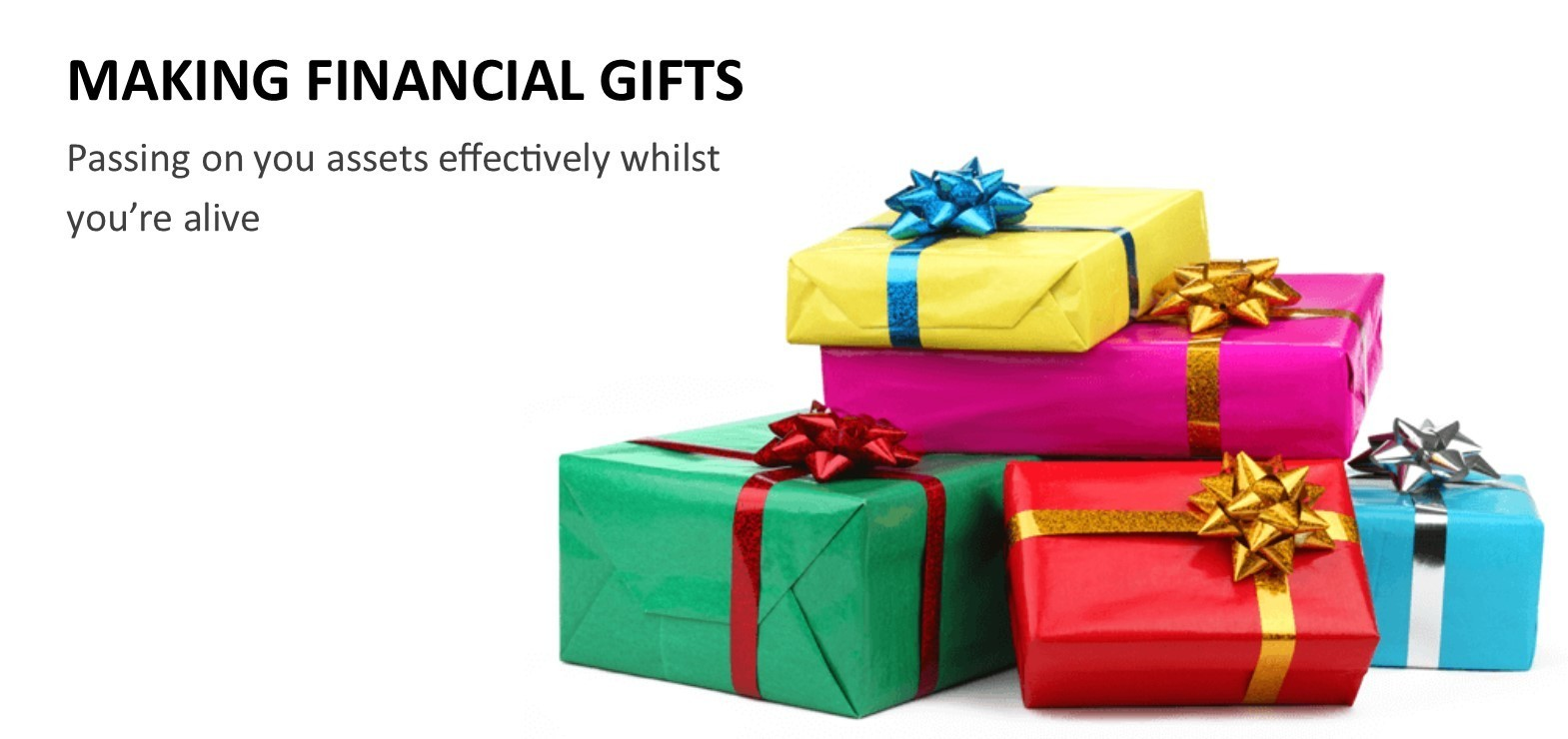 Making Financial Gifts - Passing on your assets effectively whilst you're still alive image