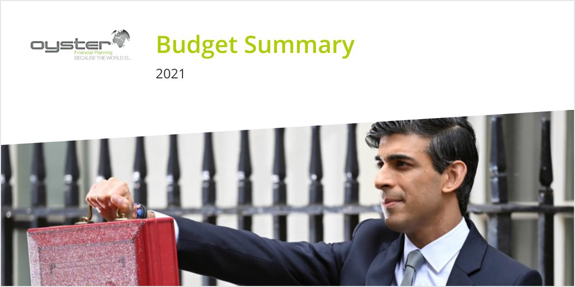 Oyster Budget 2021 Summary image