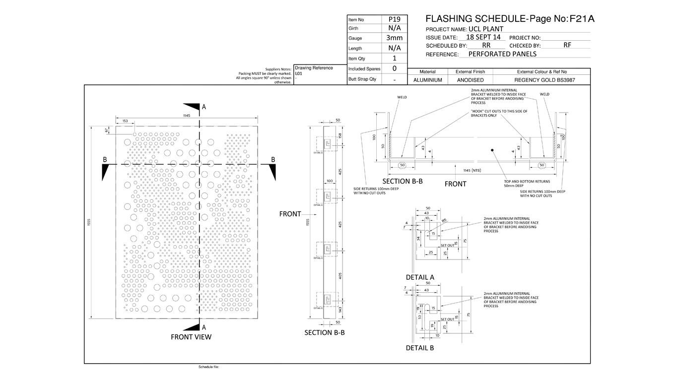 material schedules