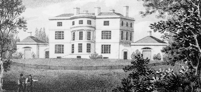 An early depiction of Blackbrook House