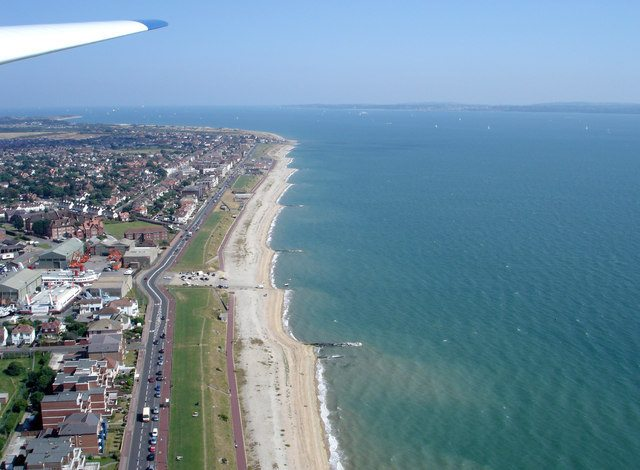 Lee on Solent from the air
