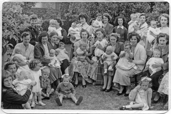 Some of the Blackbrook babies and mothers