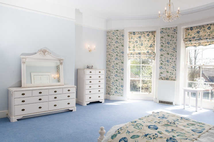 One of our elegant spacious bedrooms, each of which has ensuite facilities