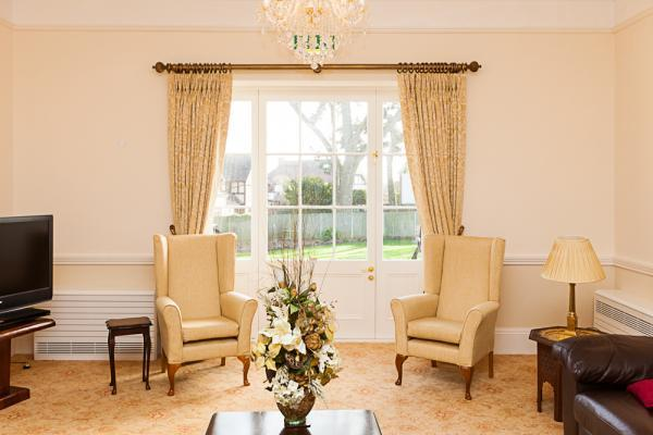 A view through the French doors at Blackbrook House