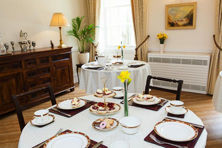 Our dining room at Blackbrook House