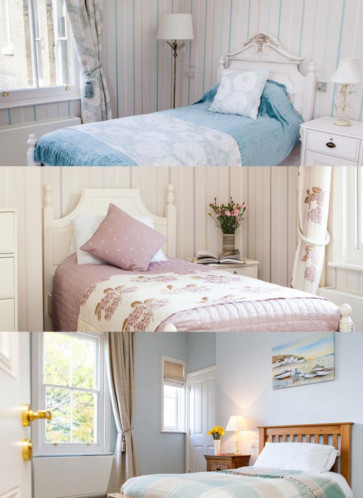 A selection of Blackbrook House bedrooms