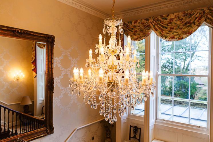 Blackbrook's crystal chandelier