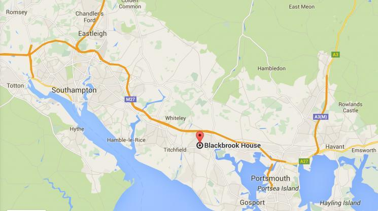 Blackbrook House on the map