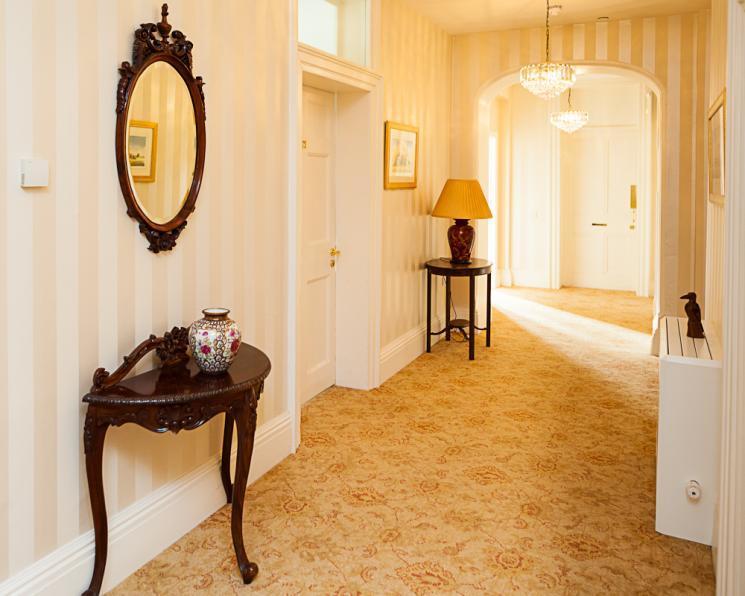 A hallway at Blackbrook House