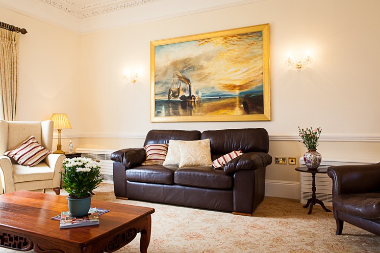A view across the lounge at Blackbrook House