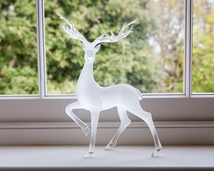 A Blackbrook ornament of a glass stag
