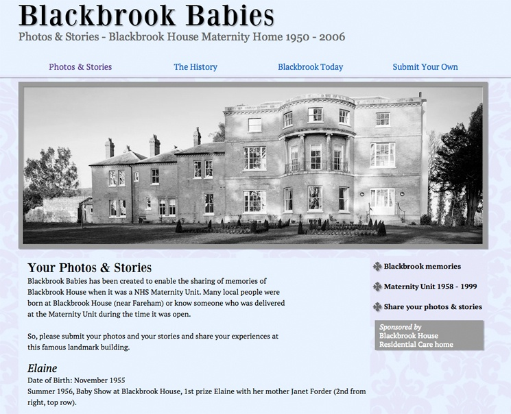 Blackbrook Babies website