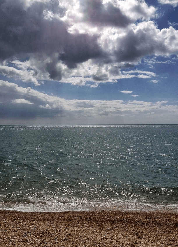 Looking out to sea