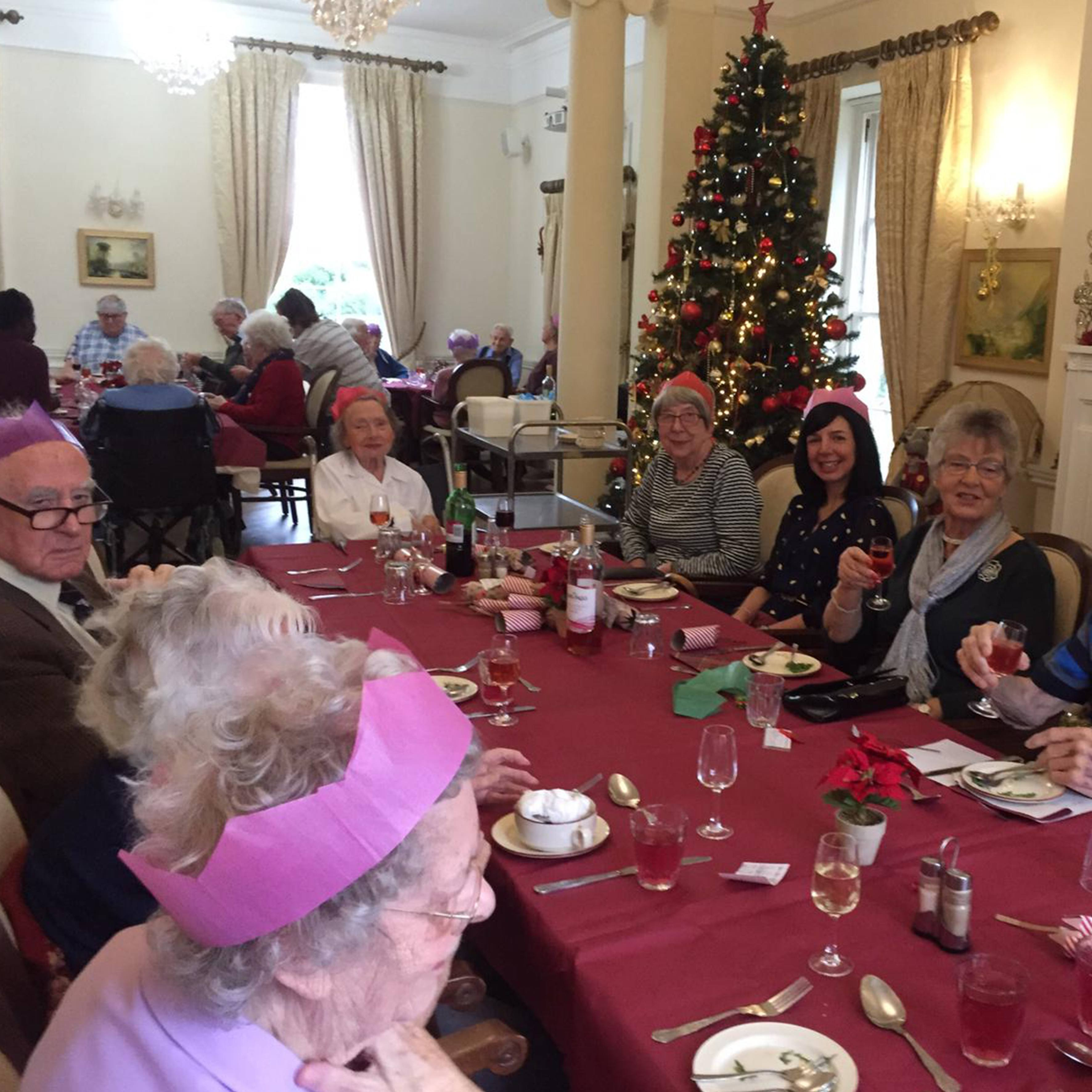 Christmas Day in the living room at Blackbrook House